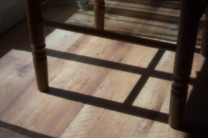 Digital pinhole: chair and shadows